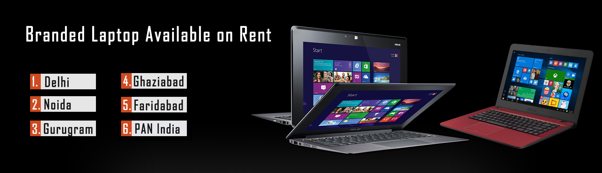 Laptop Rent in Delhi